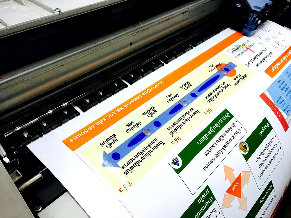 พิมพ์โปสเตอร์เสนอแผนธุรกิจ